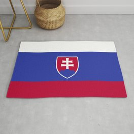 Slovakia flag emblem Rug