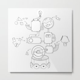 How the creative brain works? Metal Print