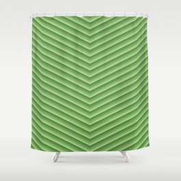 Grassy Green Chevron Shower Curtain