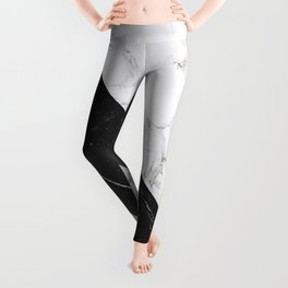 Contemporary Marble Stone Rays Leggings