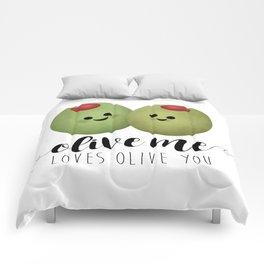 Olive Me Loves Olive You Comforters