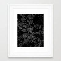 stockholm Framed Art Prints featuring Stockholm  by Line Line Lines