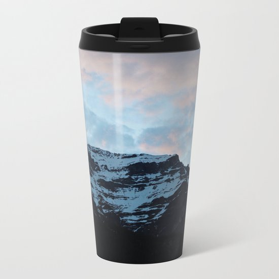 Sunset Mountains Metal Travel Mug