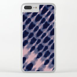 indigo diagonal Clear iPhone Case