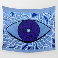 human Wall Tapestries featuring Human eye by Sandyshow
