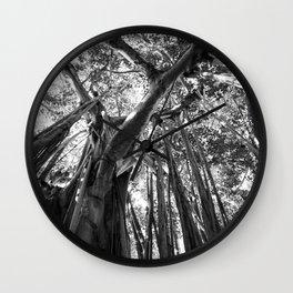 Black and White Banyan Wall Clock