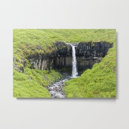 Svartifoss Waterfall Metal Print