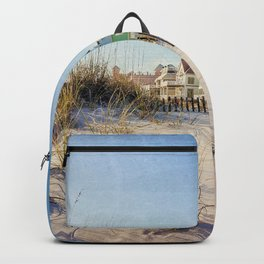 Colorful Beach Houses Backpack