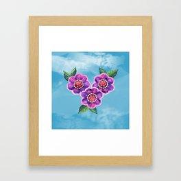 Purple Flowers II Framed Art Print