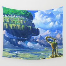 Castle in the sky Wall Tapestry