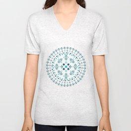 Mandala - Blue Unisex V-Neck