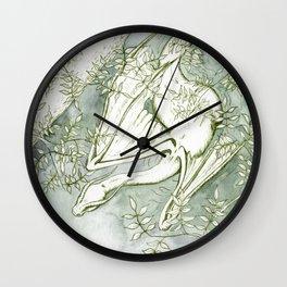 Chaudeleau the Green Marsh Dragon Wall Clock