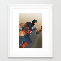 captain Framed Art Prints featuring Captain by Ed Burczyk