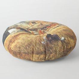 Burned Floor Pillow