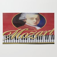 mozart Area & Throw Rugs featuring The Famous Mr M by Steve P Outram