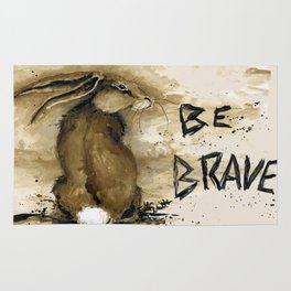 Be Brave Rabbit Rug