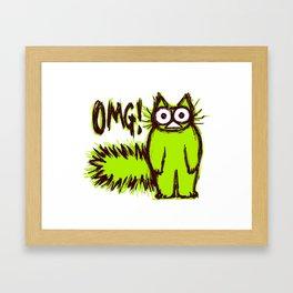 OMG CAT Framed Art Print