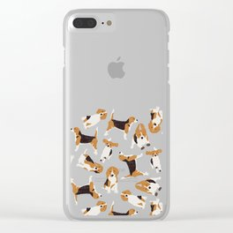 beagle scatter stone Clear iPhone Case