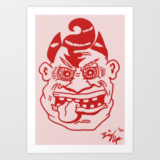 Devilish Dude Art Print