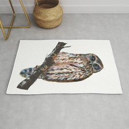 Mrs Ruru, New Zealand Morepork Owl Rug
