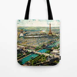 Paris 1900 Panorama Tote Bag
