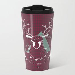 Christmas Geo Deer 4 Metal Travel Mug