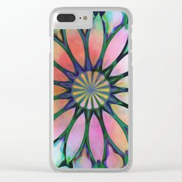 Tropical Flower Dream Clear iPhone Case