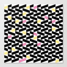 Black Pattern  Canvas Print