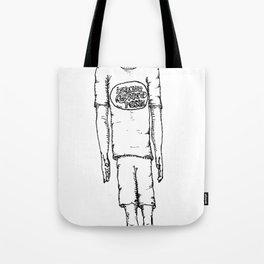 Happy Halloween (B & W) Tote Bag
