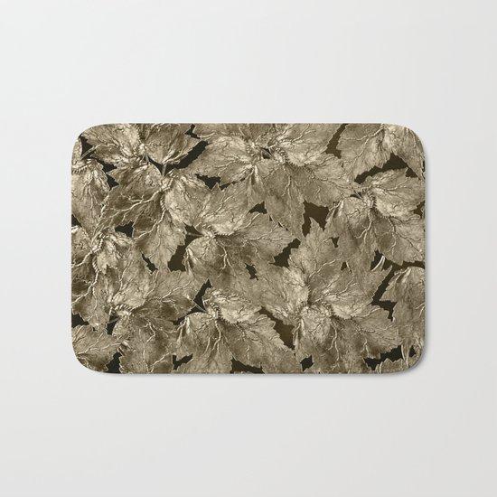 Autumn Leaves - sepia Bath Mat