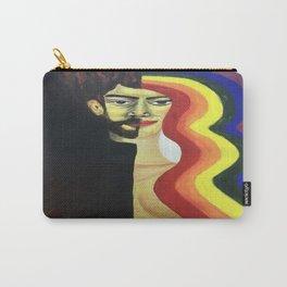 half face rainbow hair Carry-All Pouch