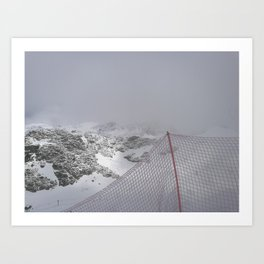 Snow is whiter on the other side Art Print