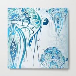 Sea Life: Jellyfish 03 Metal Print