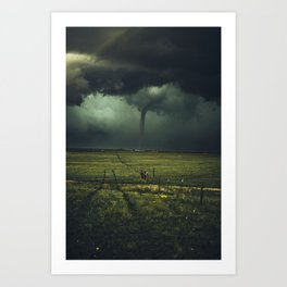 Tornado Coming (Color) Art Print