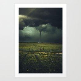 Tornado Coming (Color) Art Print