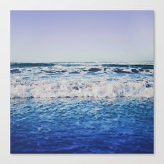 Indigo Waves Canvas Print