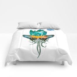Surreal Paradise Floral Print Comforters