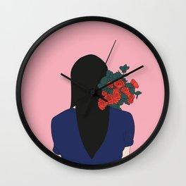 Bouquet de roses Wall Clock