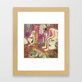 Débauche Framed Art Print