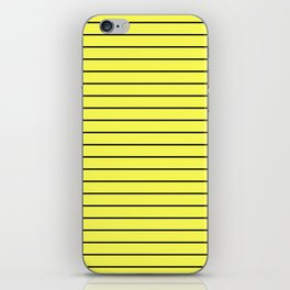 Black Lines On Yellow iPhone Skin