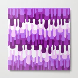 Funny Liquid Abstract Colorful Pattern 004 Metal Print