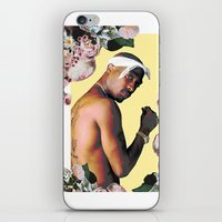 tupac iPhone & iPod Skins featuring Tupac Floral by POSH OUTSIDERS
