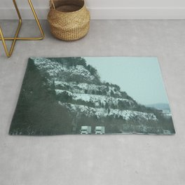 Snowy Mountains & Road Rug