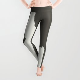 Idaho is Home - White on Charcoal Leggings