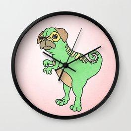 Mighty Pugasaurus Rex Wall Clock