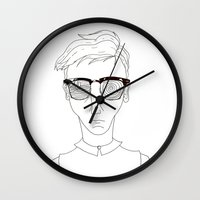 old school Wall Clocks featuring Old School by Andy Taps