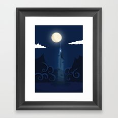 Moonlight Tower Framed Art Print