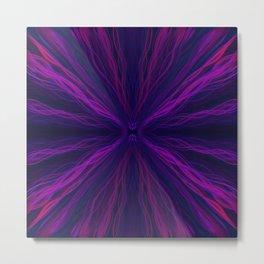 Purple light trails pattern Metal Print
