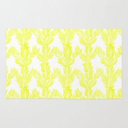 Yellow Succulent Pattern Rug