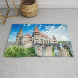 World Famous Romantic Fairytale Castle Hunedoara Romania Europe Ultra HD Rug